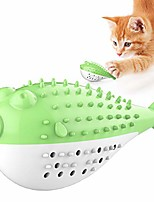 cheap -cat toothbrush toys,interactive fish shaped cat toy for indoor cats kitten built-in small bell,cat toothbrush nontoxic,rubber cat teething chew toys for molar venting & teeth cleaning