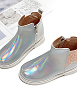 cheap -Girls' Boots Combat Boots PU Little Kids(4-7ys) Big Kids(7years +) Walking Shoes Gold Silver Fall Winter / Mid-Calf Boots