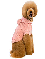 cheap -bear ears fleece pet jacket dog clothes coat soft cotton hoodies clothing teddy pink 3xl