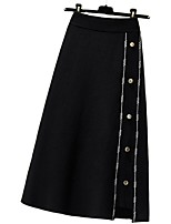 cheap -Women's Causal Daily Active Streetwear Skirts Striped Embroidered Rivet Black
