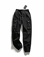 cheap -Women's Basic Streetwear Comfort Daily Going out Jogger Chinos Pants Solid Colored Ankle-Length Pocket Black