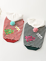 cheap -Dog Hoodie Animal Printed Fashion Cute Casual / Daily Dog Clothes Puppy Clothes Dog Outfits Breathable Red Green Costume for Girl and Boy Dog Cotton XS S M L XL XXL