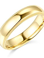 cheap -14k yellow gold 5mm comfort fit plain milgrain wedding band - size 6
