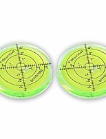 cheap -2 x bubble spirit level, 66x10mm circular bullseye level spirit level round bubble level measuring instruments tool universal protractor tool