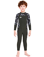 cheap -Boys' Full Wetsuit 2.5mm SCR Neoprene Diving Suit Windproof Quick Dry Long Sleeve Back Zip Camo / Camouflage Autumn / Fall Spring Summer / Kids