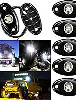 cheap -led rock lights, 6 pods led rock lights under off road truck suv atv -white