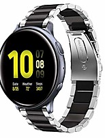 cheap -compatible for galaxy watch active 2 40mm / 44mm bands, galaxy watch 3 41mm band, 20mm stainless steel strap compatible for samsung galaxy active 2 (silver + black)