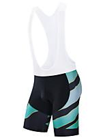 cheap -Men's Cycling Bib Shorts Cycling Shorts Bike Bottoms Breathable Quick Dry Sports Black / Sky Blue / Black / White Mountain Bike MTB Road Bike Cycling Clothing Apparel Bike Wear / Stretchy / Athletic