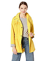 cheap -women's hooded anorak with waist detail, yellow, large