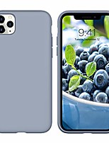 cheap -iphone 11 pro max case 2019 liquid silicone slim fit soft rubber cover non slip grip shockproof protective hybrid hard pc back bumper durable case for iphone 11 pro max 6.5 inch, lavender gray