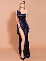cheap -Sheath / Column Minimalist Sexy Prom Formal Evening Dress One Shoulder Sleeveless Asymmetrical Spandex with Split 2020