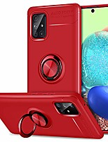 cheap -samsung a71 5g case, [not for uw or 4g] ultra slim built-in rotating metal ring kickstand fits for car mount holder soft tpu rubber cover phone case only for samsung galaxy a71 5g 2020 red