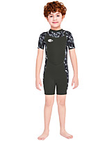 cheap -Boys' Shorty Wetsuit 2.5mm SCR Neoprene Diving Suit Windproof Quick Dry Short Sleeve Back Zip Patchwork Summer / Kids