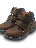 cheap -Boys' Boots Combat Boots PU Little Kids(4-7ys) Daily Walking Shoes Blue Brown Spring Fall / Booties / Ankle Boots
