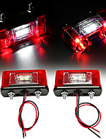 cheap -2pcs 12V-24V LED Number License Plate Light Lamp for Car Trunk Trailer Lorry Waterproof License Plate Light Exterior Accessories