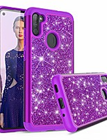 cheap -sparkling glitter bling phone case compatible with samsung galaxy a11 (purple)