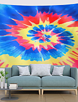 cheap -Wall Tapestry Art Decor Blanket Curtain Hanging Home Bedroom Living Room Decoration Polyester Blue Tie Dye