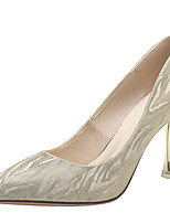 cheap -Women's Heels Stiletto Heel Pointed Toe Casual Daily Walking Shoes Gleit Gold Silver