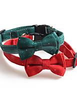 cheap -Dog Cat Collar Christmas Dog Collar Tie / Bow Tie Adjustable Flexible Outdoor Santa Claus Snowman Christmas Tree PU Leather Nylon Golden Retriever Corgi Bulldog Bichon Frise Schnauzer Poodle Red Green