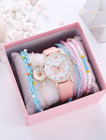 cheap -Women's Quartz Watches Quartz Modern Style Stylish Fashion Chronograph Analog Blushing Pink / PU Leather