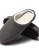 cheap -slippers for men warm memory foam house shoes winter cozy bedroom home slippers grey 10-11.5 m us