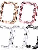 cheap -bling cases compatible for apple watch 40mm, protective bumper for iwatch se series 6 5 4 3 2 1 (40mm, black/pink/rose gold/silver/clear)