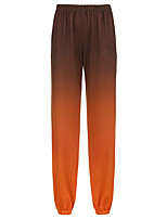 cheap -Women's Basic Streetwear Comfort Daily Going out Jogger Chinos Pants Gradient Full Length Orange