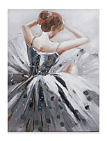 cheap -Portrait Oil Painting On Canvas Dance Girl Abstract Contemporary Art Wall Paintings Handmade Painting Home Office Decorations Canvas Wall Art Painting Rolled Canvas No Frame Unstretched