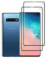 cheap -galaxy s10 hd clear screen protector + camera lens protectors by ye, [2 + 2 pack] [in-display fingerprint][anti-bubble] full coverage screen protector for samsung galaxy s10