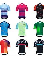 cheap -Men's Women's Short Sleeve Cycling Jersey Downhill Jersey Dirt Bike Jersey Forest Green Green / Yellow Black / Red Bike Tee Tshirt Shirt Sweatshirt Mountain Bike MTB Road Bike Cycling Sports Clothing