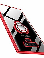cheap -galaxy note 9 case clear slim fit soft tpu silicone case with 360° rotatable ring holder stand kickstand transparent flexible rubber cover for samsung galaxy note 9 - red