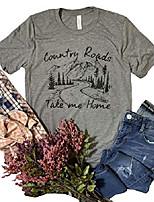 cheap -country roads take me home t shirt women funny short sleeve tees shirt country music top shirts (m, grey)