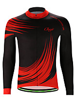 cheap -21Grams Men's Long Sleeve Cycling Jersey Jacquard Black / Red Gradient Bike Jersey Top Mountain Bike MTB Road Bike Cycling Sweat-wicking Sports Clothing Apparel / Stretchy / Athleisure