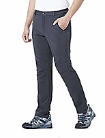 cheap -hiking pants mens, soft shell pants fleece lined ski snow insulated trousers with zipper pockets (gray, l(60-72kg))
