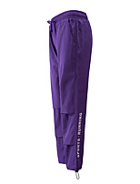 cheap -Women's Basic Streetwear Comfort Daily Going out Jogger Sweatpants Pants Letter Full Length Drawstring White Black Purple