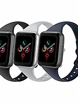 cheap -sport slim silicone band compatible for apple watch band 38mm 42mm 40mm 44mm, thin soft narrow replacement strap wristband for iwatch series 5/4/3/2/1 (black/gray/navy blue, 38mm/40mm)
