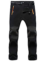 cheap -mens hiking waterproof pants fleece ski snow fish insulated soft shell outdoor winter pants (b138-black, tag xxl/us 34)