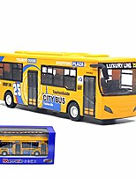 cheap -city double decker bus toy die cast pull back vehicles mini bus model car toys lights and music (yellow)