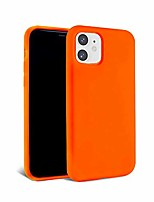 cheap -– iphone 12 and iphone 12 pro case – neon orange silicone phone cover | wireless charging compatible, 360° shockproof protective case for apple iphone 12/12