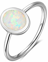 cheap -fire opal sterling silver plain wedding engagement ring (12.5)