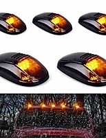 cheap -5pcs cab roof marker lights, roof top lamp running light replacement for 1999-2002 dodge ram 1500 2500 3500 4500, and other truck ,suv (black smoked lens with amber led)