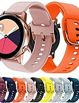 cheap -lavaah watch band compatible with samsung galaxy watch active/active 2, 20mm soft silicone replacement strap for galaxy watch active 2 44mm/galaxy watch active 40mm, rose pink (rose pink)