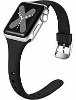 cheap -slim bands compatible with apple watch band 42mm 44mm for women men,narrow soft silicone slim thin accessories wristband for iwatch series 5 4 3 2 1,42mm/44mm m/l black