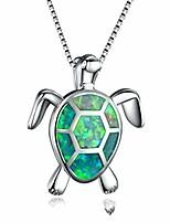 cheap -turtle pendant opal necklace rhinestone zircon clavicle chain women's jewellery gift accessories,green