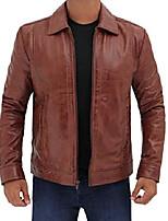 cheap -blingsoul brown leather biker jacket men   [1100377] wick, 3xl