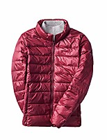 cheap -women's down jacket, lightweight duck down quilted jacket stand collar padded puffer jacket packable winter coat dark red 4xl