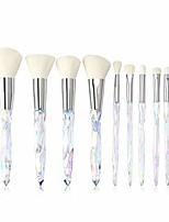 cheap -crystal makeup brushes, make up brush set professional 10-piece premium foundation brush blending face powder blush concealers eye cosmetics make up brushes kits,laserglow