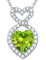 cheap -green peridot necklace for mom wife birthday gifts for women sterling silver forever love infinity jewelry for teen girls