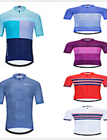 cheap -Men's Women's Short Sleeve Cycling Jersey Downhill Jersey Dirt Bike Jersey Red+Brown Green / Yellow Gray+Green Bike Tee Tshirt Shirt Sweatshirt Mountain Bike MTB Road Bike Cycling Sports Clothing