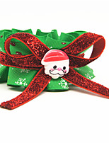 cheap -Dog Cat Collar Christmas Dog Collar Tie / Bow Tie Adjustable Flexible Outdoor Santa Claus Snowman Christmas Tree Nylon Golden Retriever Corgi Bulldog Bichon Frise Schnauzer Poodle Green 1pc